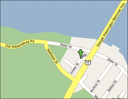 Map to York River Inn